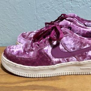 Nike Velvet Air Force 1 Low Sneakers 4Y Womens 5.5